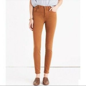 "Madewell 9"" high riser skinny jean garment dyed"
